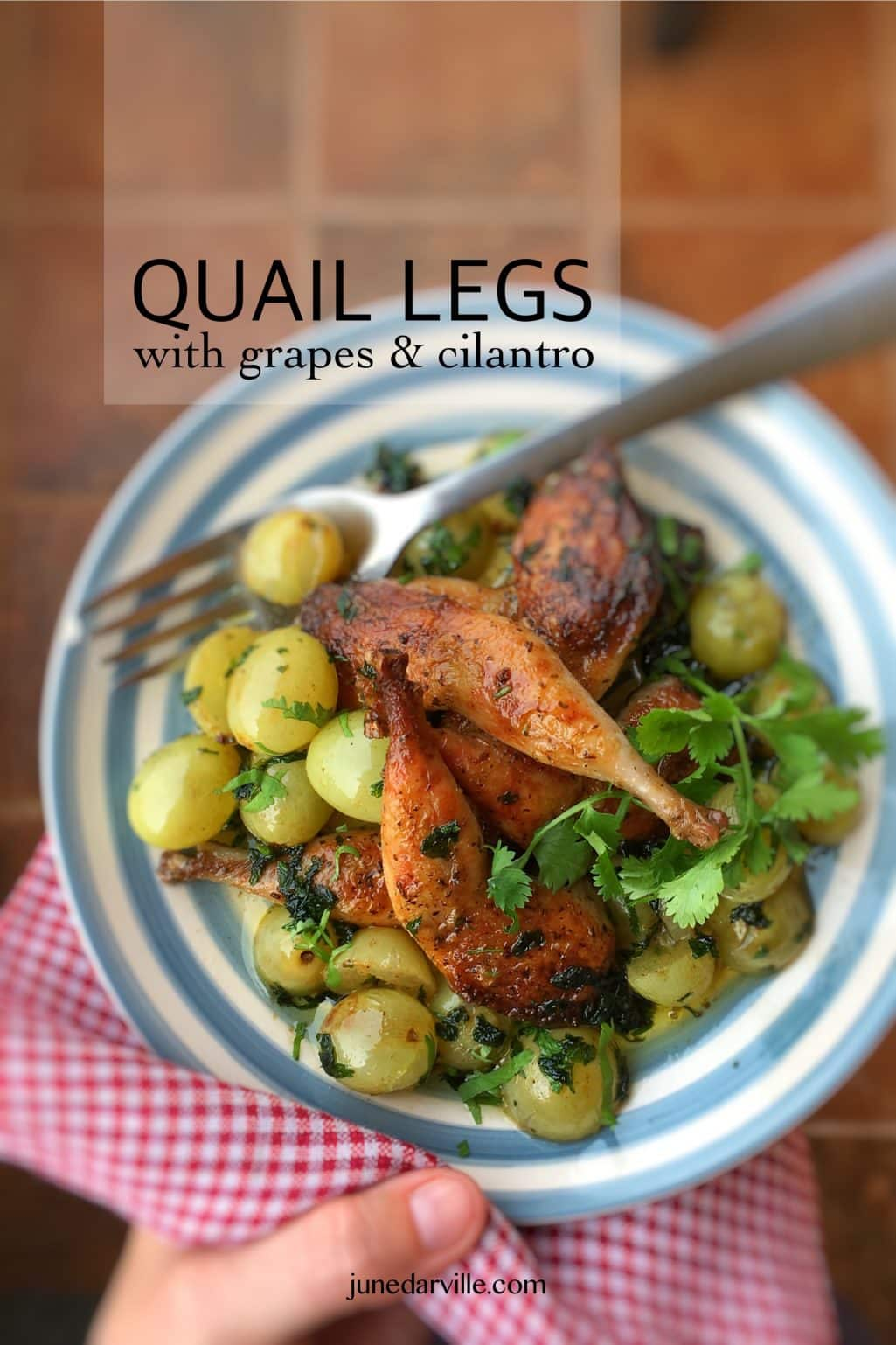 Quail with grapes or cailles aux raisins, a classic French recipe and a most surprising flavor combination! You will love this one...