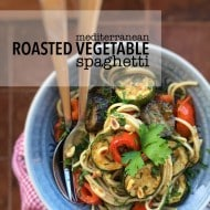 Easy Mediterranean Roasted Vegetables Spaghetti