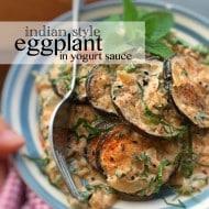 Easy Eggplant in Yogurt Sauce Indian Style