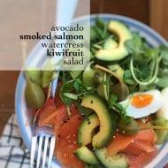 Smoked Salmon Salad with Avocado