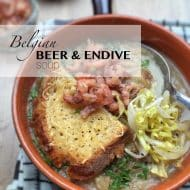Endive Soup with Belgian Beer & Cheese