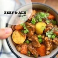Beef And Ale Stew w/ Peas & Potatoes