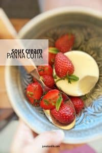 My homemade sour cream panna cotta recipe with strawberry salsa, a great summer treat! That's the recipe I can always rely on!