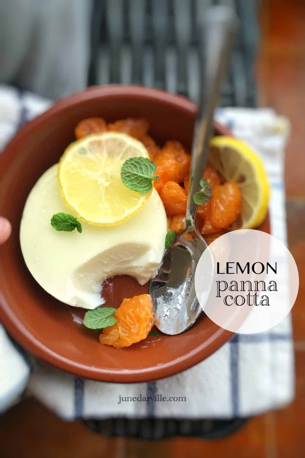 Fail Proof Lemon Panna Cotta with Yogurt
