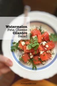 Classic watermelon feta salad recipe, perfect for a hot summer day lunch! Love the clash between the sweet watermelon and the salty feta cheese...
