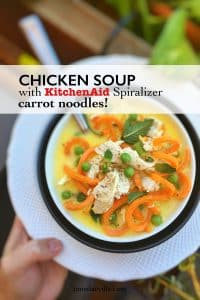 Carrot Noodle Soup with Shredded Chicken | Simple. Tasty