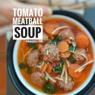 Easy Tomato Meatball Soup with Pasta