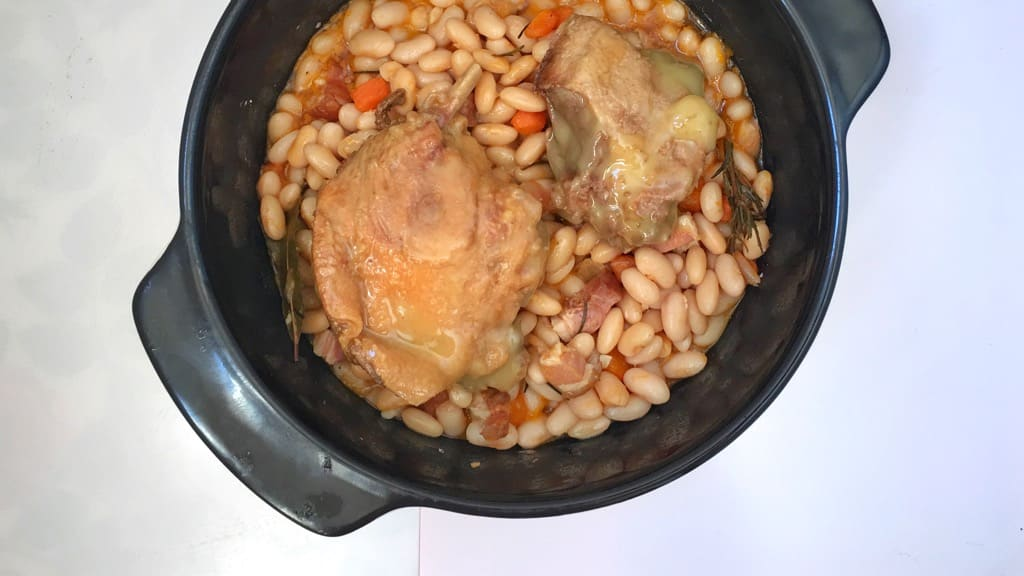 Another French classic I love: my cassoulet recipe! A simple white bean and bacon stew with confit duck... top notch French winter comfort food!