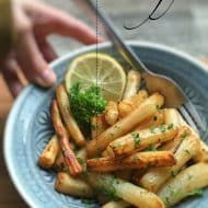 Roasted Salsify w/ Lemon in the Oven