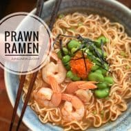 Ramen Soup Recipe with Prawns & Roe