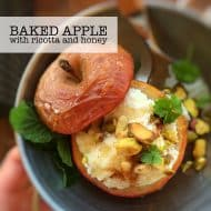 Baked Apple Dessert with Ricotta & Honey