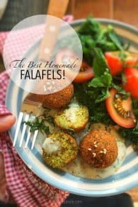 Falafels are my favorite vegetarian food and they are so easy to make at home! Here's the best homemade falafel recipe you will ever make, I swear!