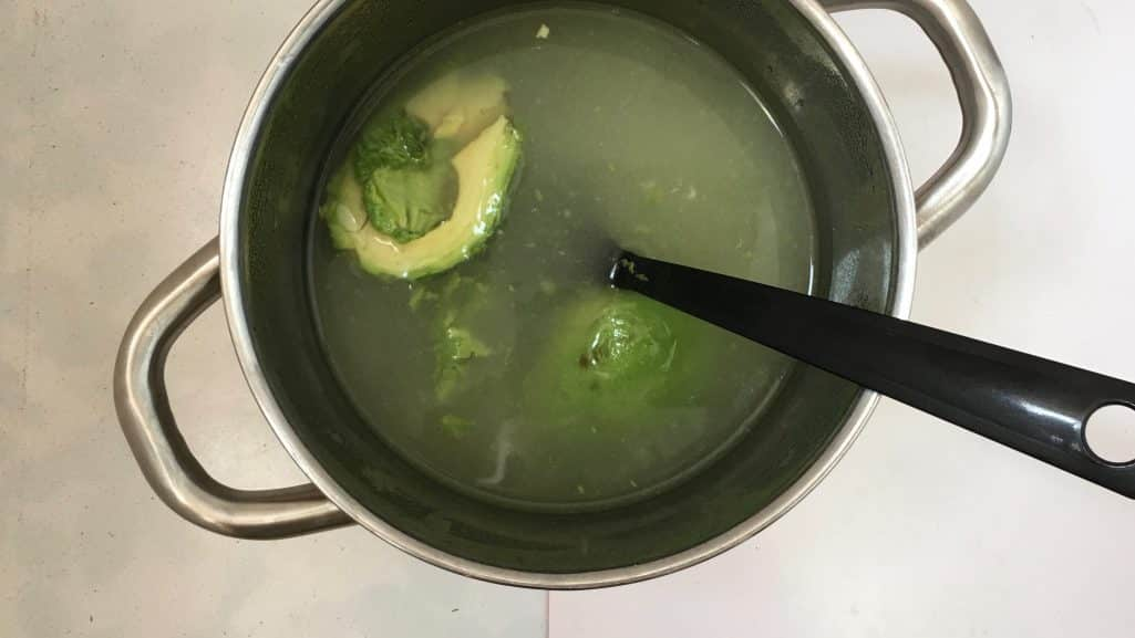 The flavors in this pesto chicken soup are spot on... love the match between the creamy avocado and the stronger basil pesto!