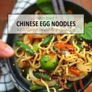 10 Minute Stir Fried Chinese Egg Noodles