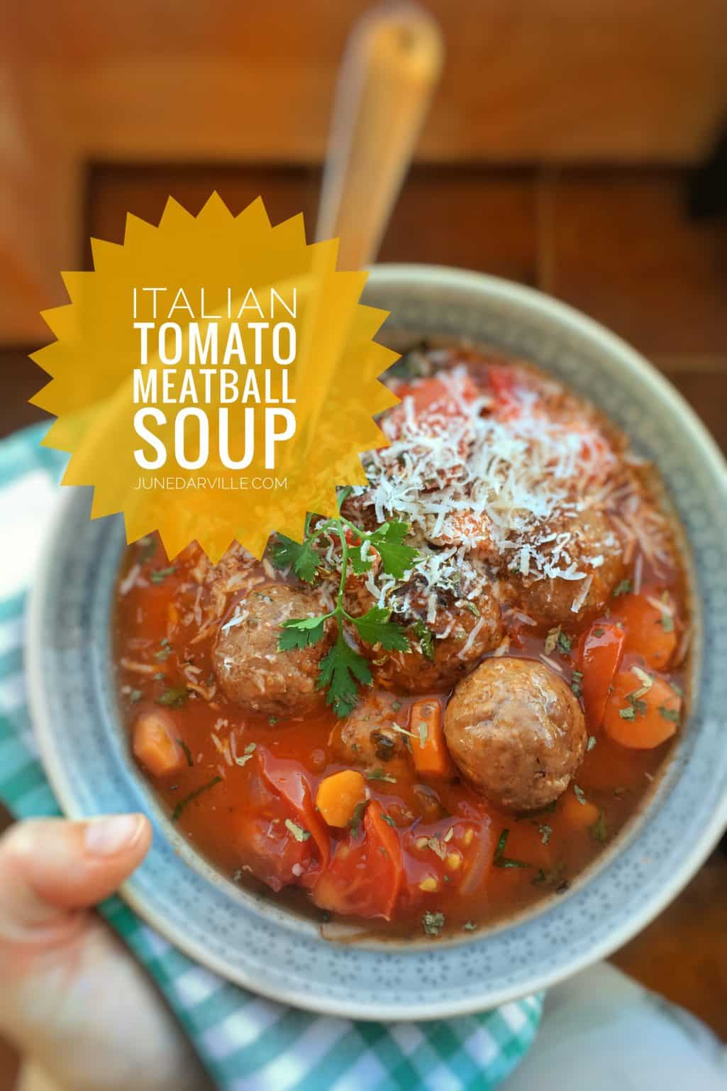 Italian Tomato Meatball Soup Recipe
