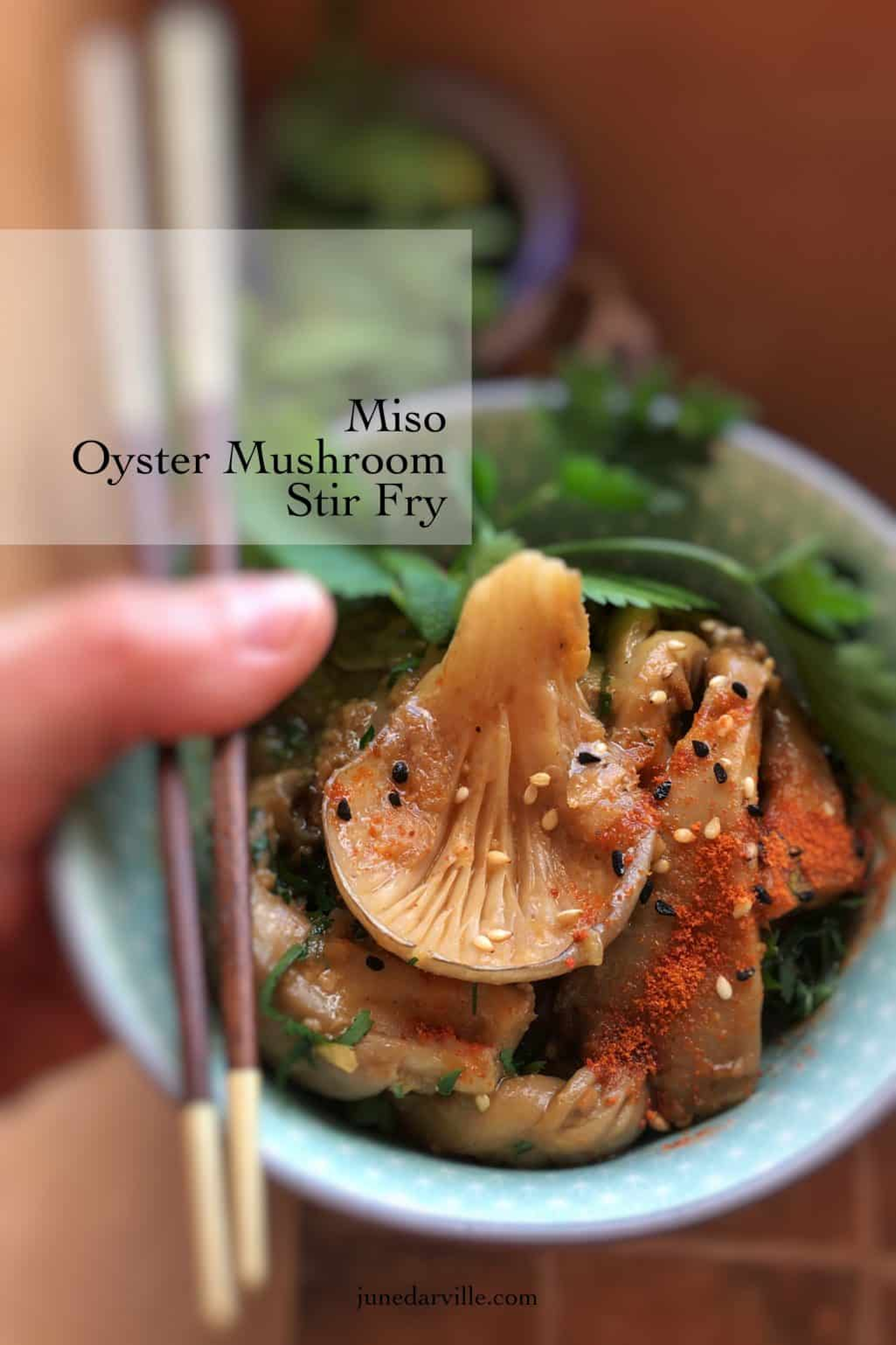 Serve this strong miso mushroom stir fry as a side dish with steak! Or as a vegetable stir fry with steamed rice... Enjoy this one!