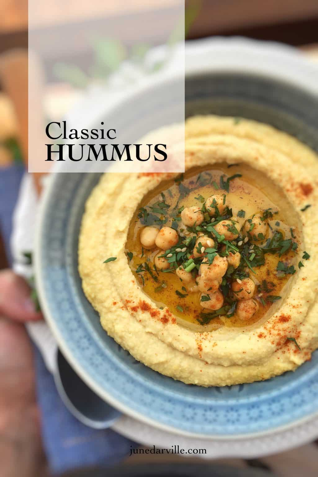 Recipe For Hummus: a mediterranean classic!