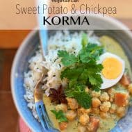 Chickpea Korma Recipe with Sweet Potato