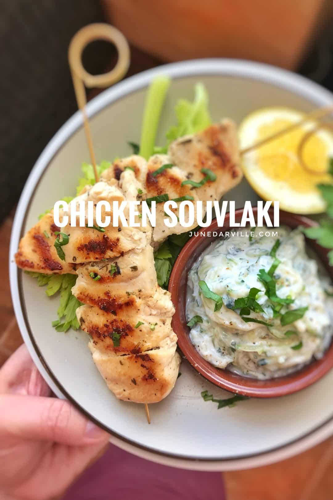 Souvlaki Chicken Skewers with Tzatziki