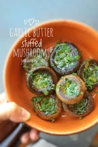 Stuffed mushrooms are a superb party finger food... Try out my super savory garlic butter stuffed mushrooms and 2 more appetizer recipes!