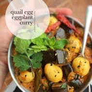 Eggplant Curry Recipe with Quail Eggs