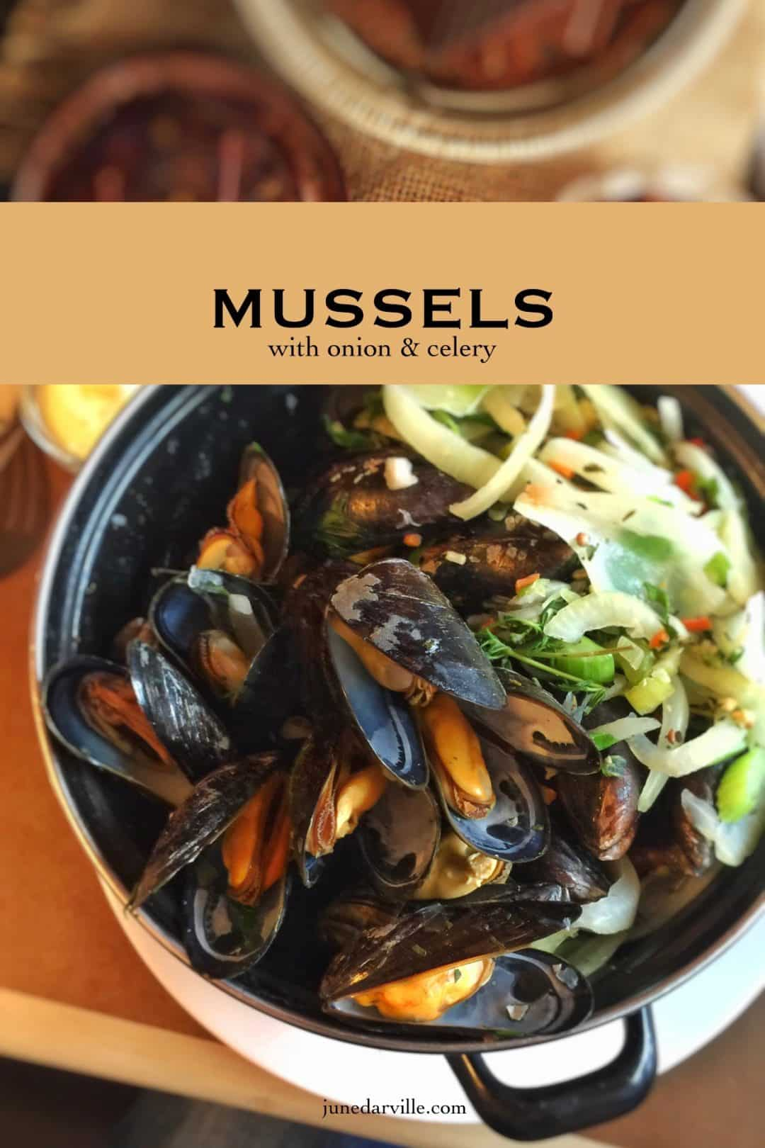 Wanna know what my favorite mussel recipe ever? Simple mussels with celery, onion, garlic and white wine... classic and delish!