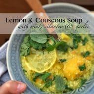 Pearl Couscous Soup with Lemon Recipe