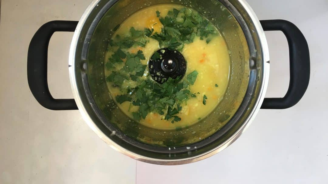 Mediterranean pearl couscous soup with lemon: another quick and easy soup recipe right out of my magnificent KitchenAid Cook Processor!