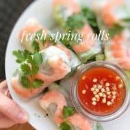 Fresh Spring Rolls with Prawns