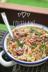 Who doesn't love a good coleslaw! This shredded cabbage salad is so drop dead simple to make. A great Thanksgiving side dish!