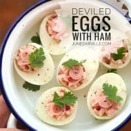 Deviled Eggs with Ham Appetizers