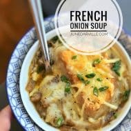 French Onion Soup Recipe with Cheese Toast