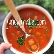Tomato Meatball Soup (Belgian Recipe)