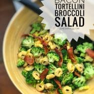 Easy Broccoli Salad with Bacon & Tortellini